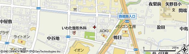 福島県福島市南矢野目(荒屋敷)周辺の地図