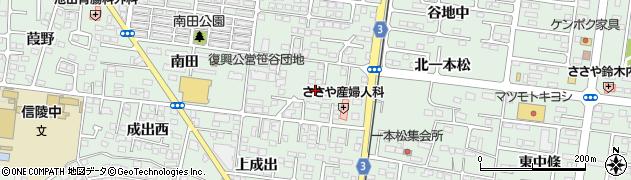 福島県福島市笹谷(石田)周辺の地図