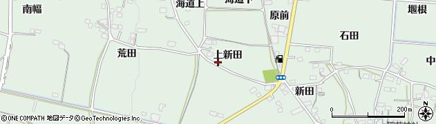 福島県福島市大笹生(上新田)周辺の地図