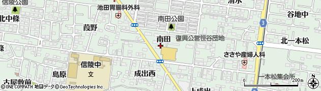 福島県福島市笹谷(南田)周辺の地図