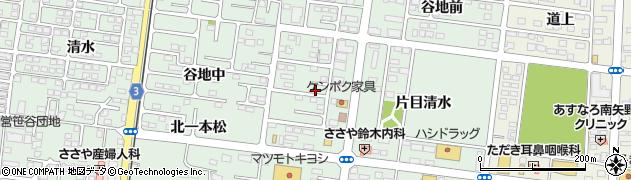 福島県福島市笹谷(出水上)周辺の地図