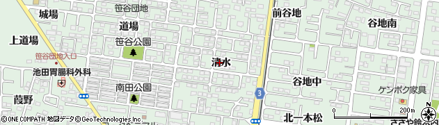 福島県福島市笹谷(清水)周辺の地図
