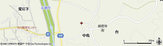 福島県伊達市霊山町中川(舘)周辺の地図