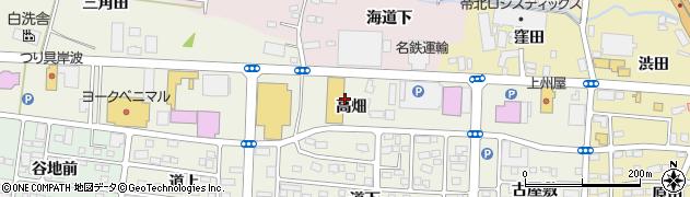 福島県福島市南矢野目(萱積場)周辺の地図
