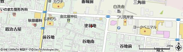 福島県福島市笹谷(塗谷地)周辺の地図