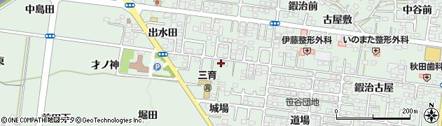 福島県福島市笹谷(横道)周辺の地図