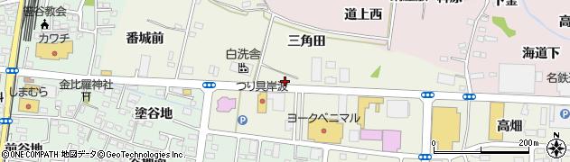 福島県福島市南矢野目(舘野)周辺の地図