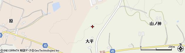 福島県伊達市霊山町中川(大平)周辺の地図