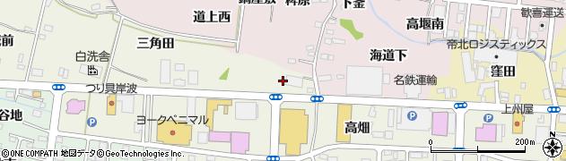 福島県福島市南矢野目(下菅原)周辺の地図