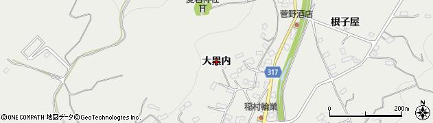福島県伊達市保原町所沢(大黒内)周辺の地図