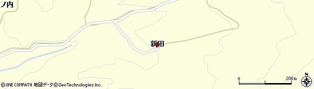 福島県伊達市霊山町大石(新田)周辺の地図