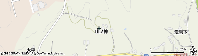 福島県伊達市霊山町中川(山ノ神)周辺の地図