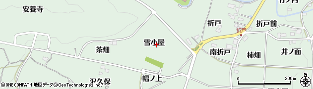 福島県福島市大笹生(雪小屋)周辺の地図