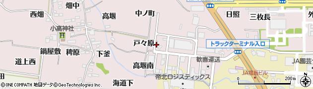 福島県福島市飯坂町平野(戸々原)周辺の地図
