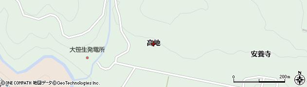 福島県福島市大笹生(高地)周辺の地図