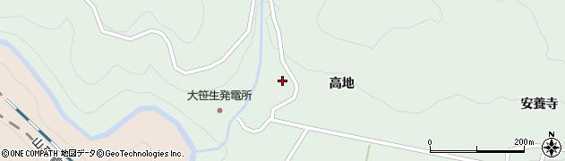 福島県福島市大笹生(高林)周辺の地図