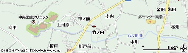 福島県福島市大笹生(竹ノ内)周辺の地図