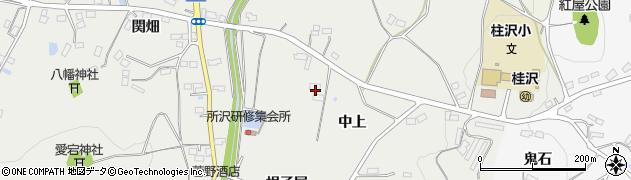 福島県伊達市保原町所沢(中上)周辺の地図