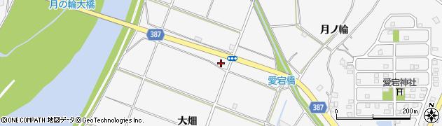 福島県福島市鎌田(新割)周辺の地図