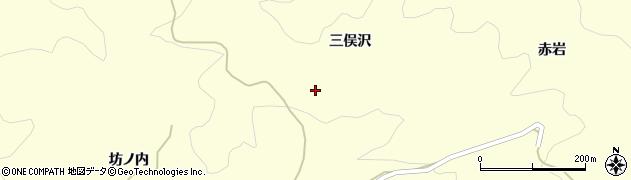 福島県伊達市霊山町大石(三俣沢)周辺の地図