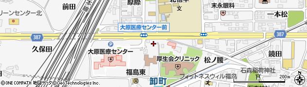 福島県福島市鎌田(中江)周辺の地図