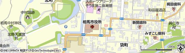 福島県相馬市周辺の地図