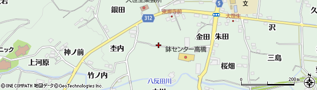 福島県福島市大笹生(竹ノ内前)周辺の地図