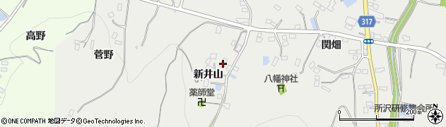 福島県伊達市保原町所沢(新井山)周辺の地図