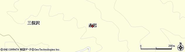 福島県伊達市霊山町大石(赤岩)周辺の地図