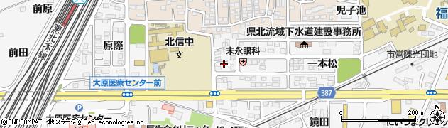 福島県福島市鎌田(御仮家)周辺の地図
