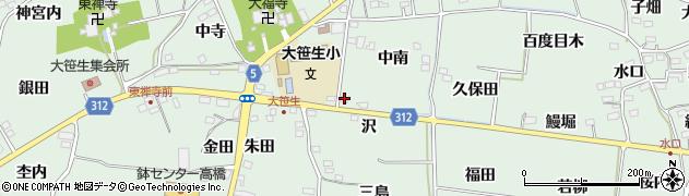 福島県福島市大笹生(沢)周辺の地図