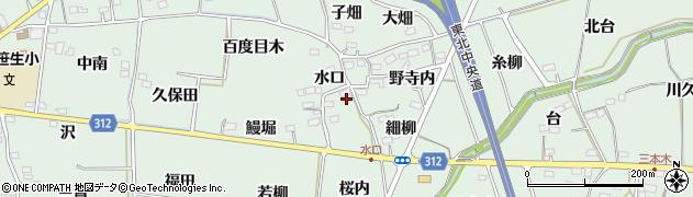 福島県福島市大笹生(水口)周辺の地図