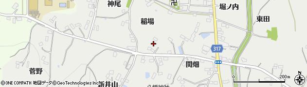 福島県伊達市保原町所沢(稲場)周辺の地図