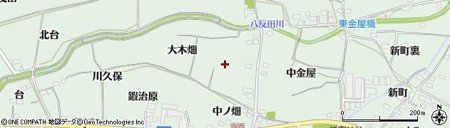 福島県福島市笹谷(大木畑)周辺の地図