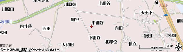 福島県福島市飯坂町平野(中細谷)周辺の地図
