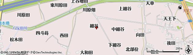 福島県福島市飯坂町平野(細谷)周辺の地図