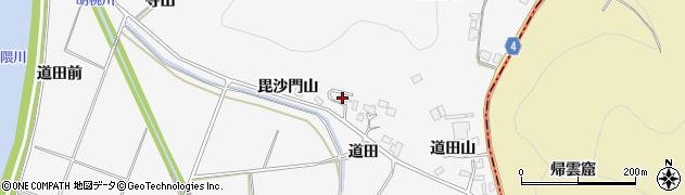 福島県福島市瀬上町(毘沙門山)周辺の地図