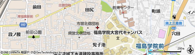 福島県福島市宮代(乳児池)周辺の地図