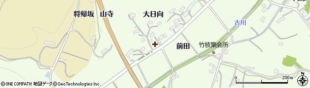 福島県伊達市保原町大柳(大日向)周辺の地図