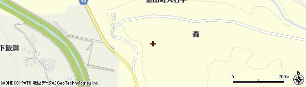 福島県伊達市霊山町大石(西ノ入)周辺の地図
