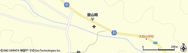 福島県伊達市霊山町大石(宮脇)周辺の地図