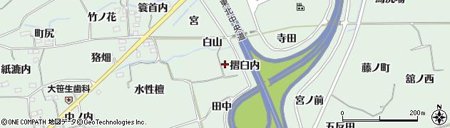 福島県福島市大笹生(摺臼内)周辺の地図