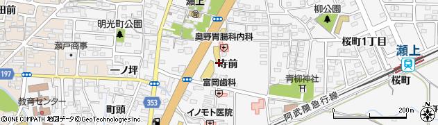 福島県福島市瀬上町(寺前)周辺の地図