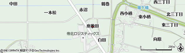 福島県福島市大笹生(座敷田)周辺の地図