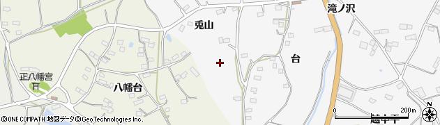 福島県伊達市保原町柱田(兎山)周辺の地図