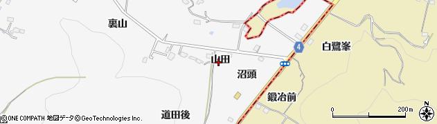 福島県福島市瀬上町(山田)周辺の地図