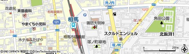 塚の町道祖神周辺の地図