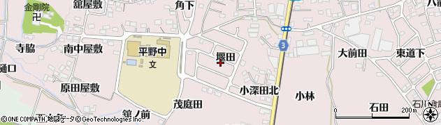 福島県福島市飯坂町平野(堰田)周辺の地図
