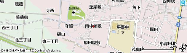 福島県福島市飯坂町平野(南中屋敷)周辺の地図