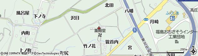 福島県福島市大笹生(上戸内)周辺の地図